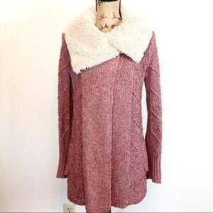 Anthropologie Sleeping on Snow Sweater Coat S